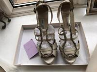 Jimmy choo gold shoes, new, size 6 (39)