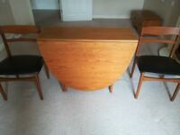 Vintage Nathan 1970's Teak Dining table and chairs