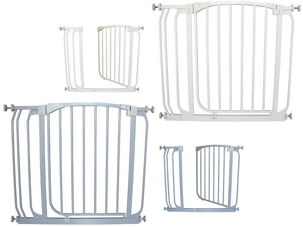 Türschutzgitter Treppenschutzgitter Türgitter Metall 72,5 - 137,5 cm Autoclose