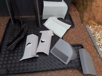 VW T5 2007 shuttle LWB plastic trim, 2x fly screens, fitted boot protector