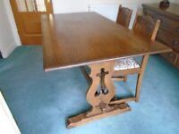 Old charm Dining table & chairs.