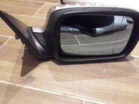 BMW E46 silver manual wing mirror