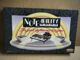 (NOTEABILITY) Rhythm & Clues board game, with electronic piano. Spears games. Complete