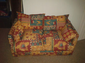 small 2 seater foam sofa bed in tidy cond smoke free home