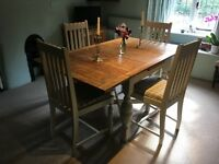 1930s Dining table and chairs painted