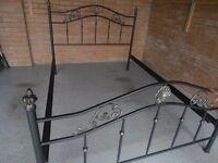 Double bed.Metal black frame