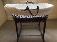 Clair de Lune Moses basket and rocker stand