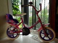 Girls bike pink for 3 years