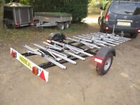 UNIQUE (UNBRAKED) 12 BICYCLE TRANSPORTER ROAD TRAILER.....