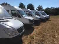 Mercedes sprinter crew/ mess/ hospitality van 2013 make ideal camper conversion , seats eight.