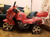 Child's ride on electric motorbike