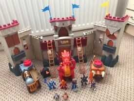 Imaginext interactive castle with dragon