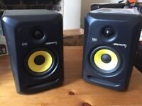 2 KRK Studio Quality Active Speakers for sale, practically new & in pristine condition