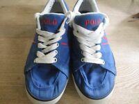 Pre Worn - POLO Ralph Lauren Blue - Canvas Deck - Boat Shoe - UK 4.5 - Box not included