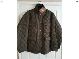 Barbour quilted jacket L