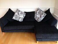 Black corner sofa, great condition!