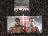 Anthony Joshua vs Wladimir Klitschko (2 tickets) Saturday April 29th Boxing Wembley Stadium
