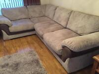 Sofa and storage pouffe