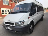 Ford transit 2.4 twin wheel LWB 17seates