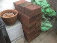Reclaimed Clay Quarry tiles x 73. (300x230mm) = 5 square metres. Good condition. £1 each