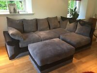 NEW Corner Sofa with Foot Stool