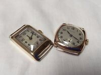 Vintage solid 9ct gold mens watches for repair!!!