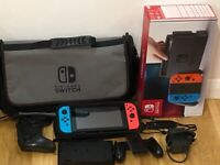 Like NEW Nintendo switch with accessories