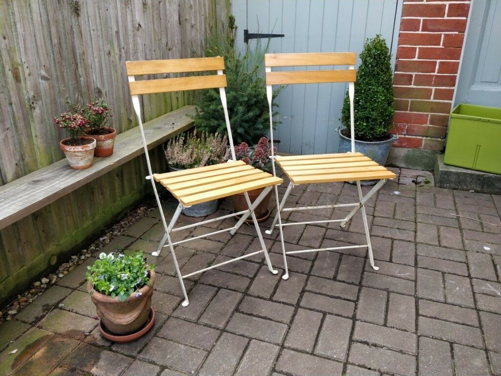 Pair Of Folding Wooden Chairs Vintage Garden Chairs Vintage Patio Chairs Bbq Chairs Extra Chairs In Lee On The Solent Hampshire Gumtree