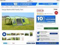 Vango Nadina 600 Family Tent brand new