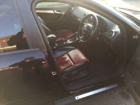 Audi A3, 2.0 tdi, S line sportback, black (06).