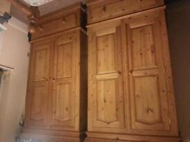 real pine wardrobes