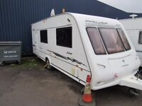 Compass Rallye 524 4 Berth Side Dinette End Bathroom Touring Caravan 2006