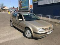 2001 Y VOLKSWAGEN GOLF 1.6 SE LOW MILEAGE ON 77000 MILES FULL SERVICE HISTORY