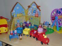 Various Peppa Pig toys