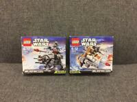 2 x STAR WARS LEGO Microfighters Series 2 Used Rare with mini figures Hoth SDHC