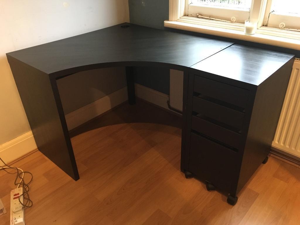 ikea micke corner desk draws file storage in benfleet essex gumtree. Black Bedroom Furniture Sets. Home Design Ideas