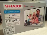 Sharp LC-32CHE5111K HD Ready 32 Inch LED TV with Freeview HD Ready BRAND NEW SEALED