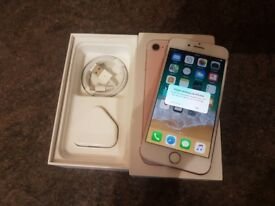 iPhone 7 32GB Rose Gold, Factory Unlocked, hardly used