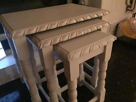 Shabby chic/vintage nest of tables