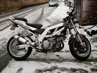 sv1000 with renthal bars and lowering kit fitted twin head lights good looking bike