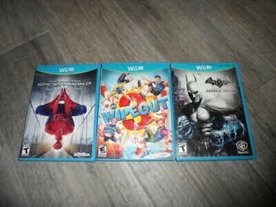 3 Nintendo Wii U The Amazing Spider-Man 2, Wipeout, Batman Video Games