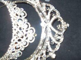 tiara matching belt and jewellery