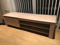 Beech TV Unit with storage - £40ono - good condition - 160 cm long