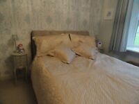 Lovely quilted bed throw and pillow shams