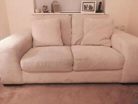 Cream 3 & 2 seater sofas