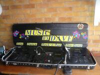 PA system/ Disco has Twin top Loading CDJ-700 Professional CD players, Maplin Mixer, DJ Mic, Leads