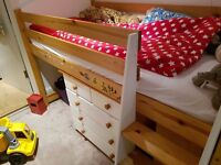 Stompa Midsleeper Bed with Bookcase and Drawers (Paddington, London, W9)