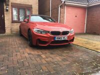 BMW M4 Coupe Orange 2015 plate; Very Low Mileage; Excellent Condition