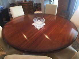 Mahogany round dinning table