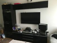 Ikea tv stand + wall cabinet and display unit